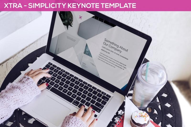 Xtra-简洁主题演示模板Keynote