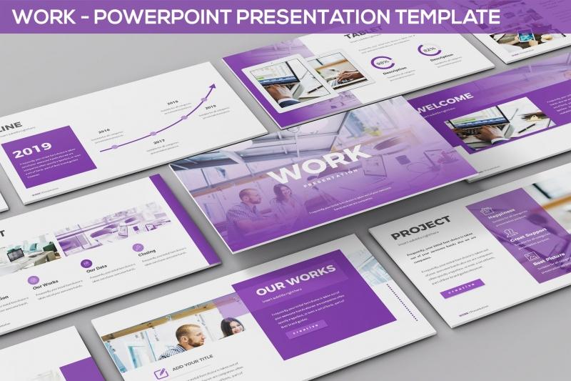 工作-Powerpoint演示模板PPT