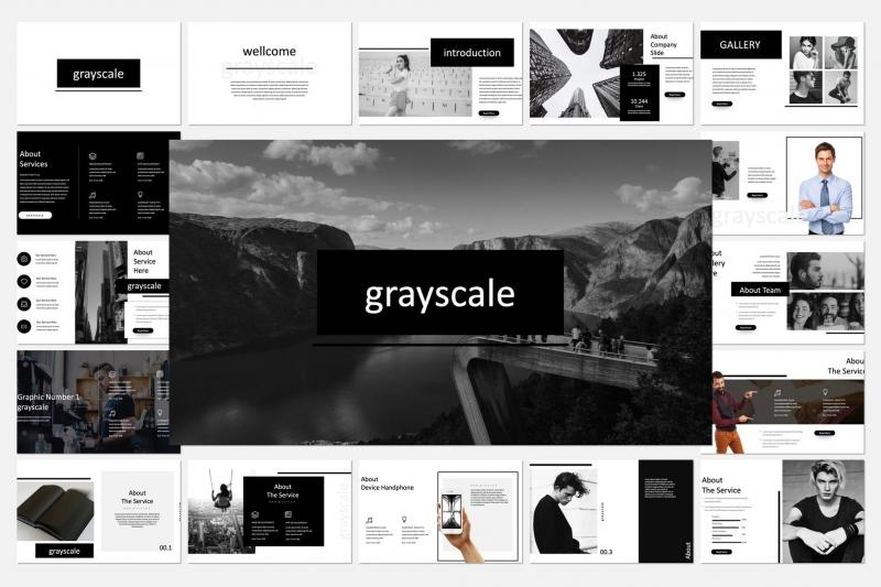 灰度主题演示模板keynote